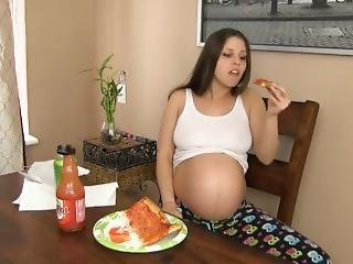 Pregnant Pizza Stuffing