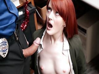 Lp Officer Fucks Shoplifters Tight Pussy
