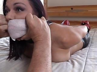 Accepting Her Medical Tape Gag And Bondage