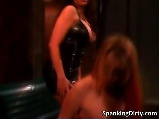 Sexy Blonde Bitch Gets Spanked Hard