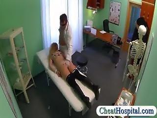 Beautiful Blonde Patient Sucks And Fucks Doctors Big Cock