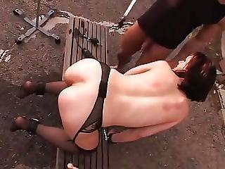 Slave Enema Outside