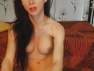 Hot Diminutive Lady-boy Masturbating Hard