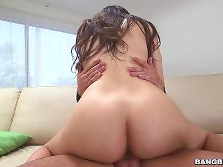 Miss Rican Having Sex On The Sofa