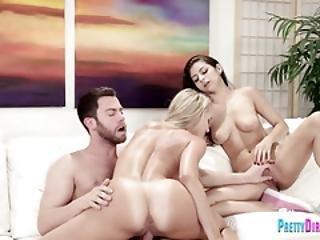 Two Sluts Share A Hard Penis