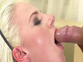 Mouth-fuck Bigtitted Blonde Eager Pisser Drooling