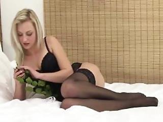Teasing Bigtaco Lingerie Babe Pleasures Self