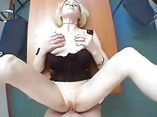 Hot Blonde Cougar Plays With Herself Then Gets Fucked Hard