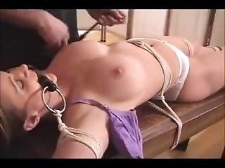 Beautiful Girl Tied And Teased