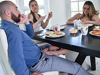 Athena Spread Opens Her Bald Pussy For Stepdad Striling