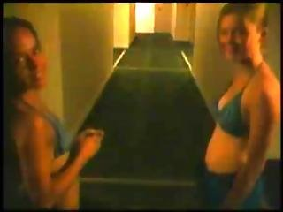 2 Girls Blows Dick On Balcony