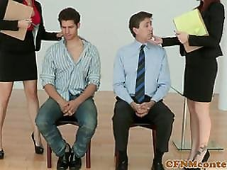 Femdom Spex Milf In Office Tugging Their Subs