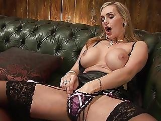 Tanya Is Satisfied With Squeezing Her Big Melons To Deliver Orgasm