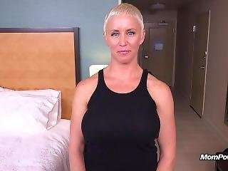 røv, stor røv, stort bryst, blond, facial
