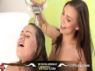 Lesbian Piss Drinking   Czech Hotties Morgan And Barbe Taste Their Pee