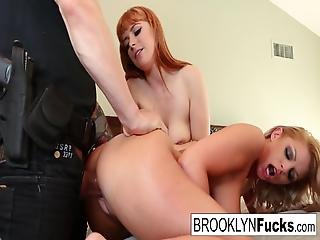 Lucky Policeman Alex Bangs Brooklyn And Penny