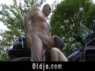 70 Years Old Cock Bonks In Doggie Young Cute Teenager Girl