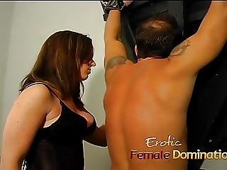 Naughty Well Hung Stallion Gets Dominated By Two Horny Brune