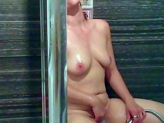 Under The Shower, Masturbation Slowmo. Wet And Gorgeous.