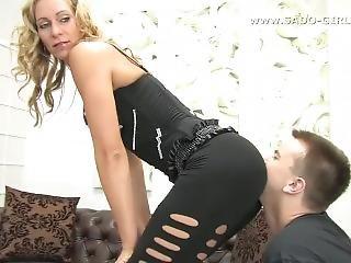 Ass Worship Femdom. Kiss My Ass Slave! Svenja German Mistress. Sado-girls.