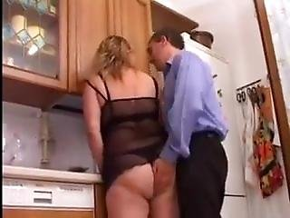 Dad And Daughter Fuck In The Kitchen