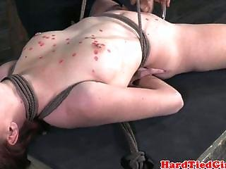 Bondage, Couple, Fetish, Hogtied, Pierced, Tied, Wax