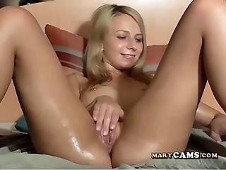 Amatoriale, Ragazza Webcam, Masturbazione, Fica, Sesso, Da Sola, Webcam