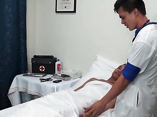 Perverted Oriental Twink Medical Fetish Arse Play