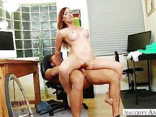 Dani Jensen Has A Little Accident With The Delivery Guy At Her Office