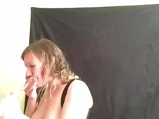 Morning Smoking & Dick Sucking In Corset