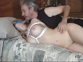 blonde, bondage, vast gebonden