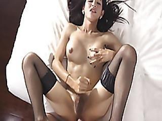 Lovely Ladyboy Nita Anal Screwed Hard Bareback In Bed