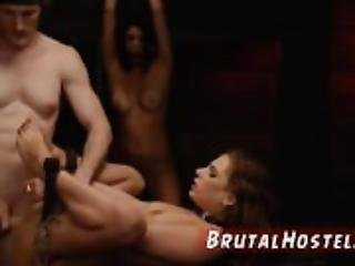 Teen slave and brutal cum Two youthfull