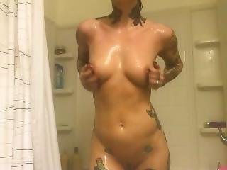 Wet And Soapy Shower Masturbation