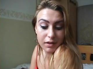 Sabrina Masturbating On Bed