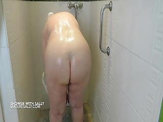 Sally Takes A Shower