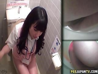 Asian Sluts Pee In Toilet