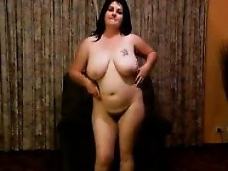 Chubby And Ugly Mother Does A Striptease