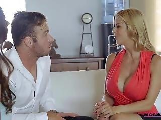 stort bryst, blond, sammensætning, mor, pornostjerne, sex, squirt