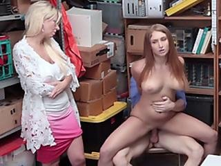 Busty Teen Thief Fucked Next To Stepmom By Lp Officer