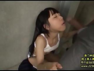 obciąganie, śmietanka, sperma wewnątrz, wytrysk, ruchanie, japonka, ostro, szkoła, seks, Nastolatki