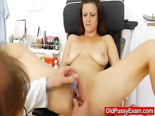 Brunette, Closeup, Examination, Fetish, Gyno, Hospital, Mature, Milf, Mom, Pussy, Smoking, Speculum, Spit, Wife