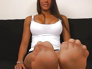 Ange, Fétiche, Pied, Nylon, Collants, Bas Collants, Stocker, Embêter
