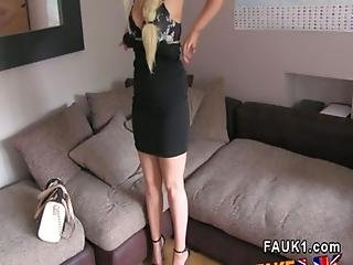 Huge Tits Blonde Works Agents Dick