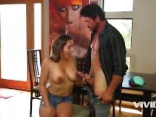 Horny stepdad seduces his hot step daughter