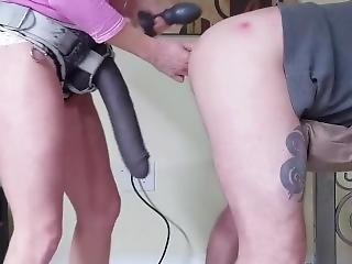 Huge Strap On Deep In His Ass