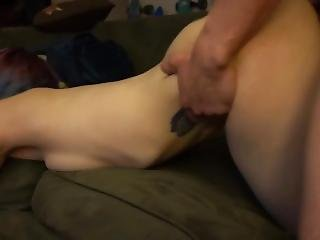 College Girlfriend Fingers Ass And Gets Rough Fucking