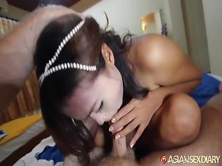 Asian Sex Diary Filipina Milf Gets Interracial Creampie