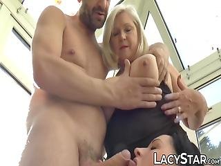 Busty British Gilfs Enjoy Being Hammered By Big Hard Cock