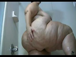 Mature Obese Brunette Takes A Shower And Washes Her Gigantic Dimply Ass - Free Porn Sex Video - Ass
